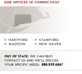 Offices in Connecticut: Hartford, Madison, Stamford, New Haven.
